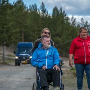 Tre personer på utflykt